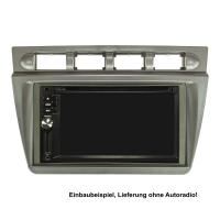 Doppel DIN Radioblende kompatibel mit Kia Picanto SA 2004-2007 silber