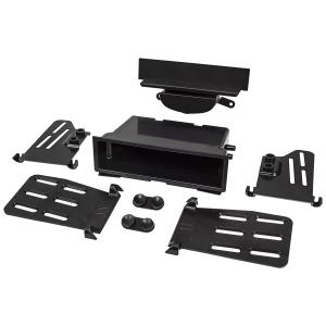 Doppel DIN 1DIN Radioblende kompatibel mit BMW Mini Cooper II R55 R56 R57 2006-2014 Fz. m. autom. Klimaanlage