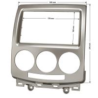 Doppel DIN Radioblende kompatibel mit Mazda 5 (CR) 2005-2010 silber