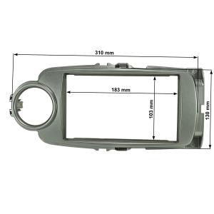 Doppel DIN Radioblende kompatibel mit Toyota Yaris XP13...