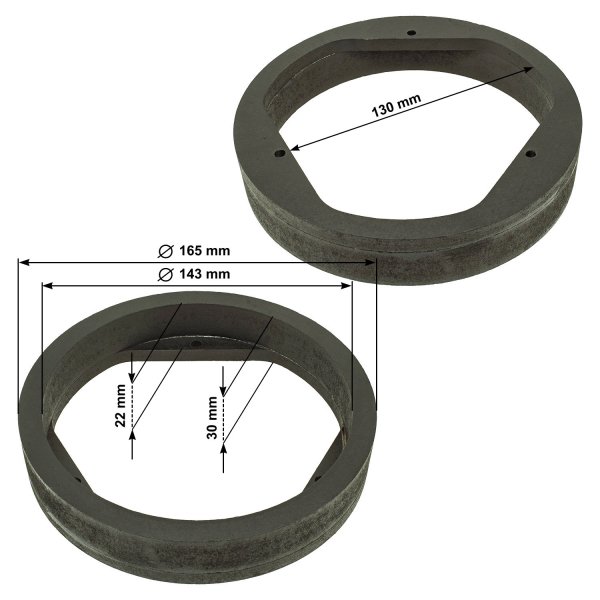 Eicher YH1659 Rear Right Left Brake Disc Kit 2 Pieces 260mm Diameter Solid