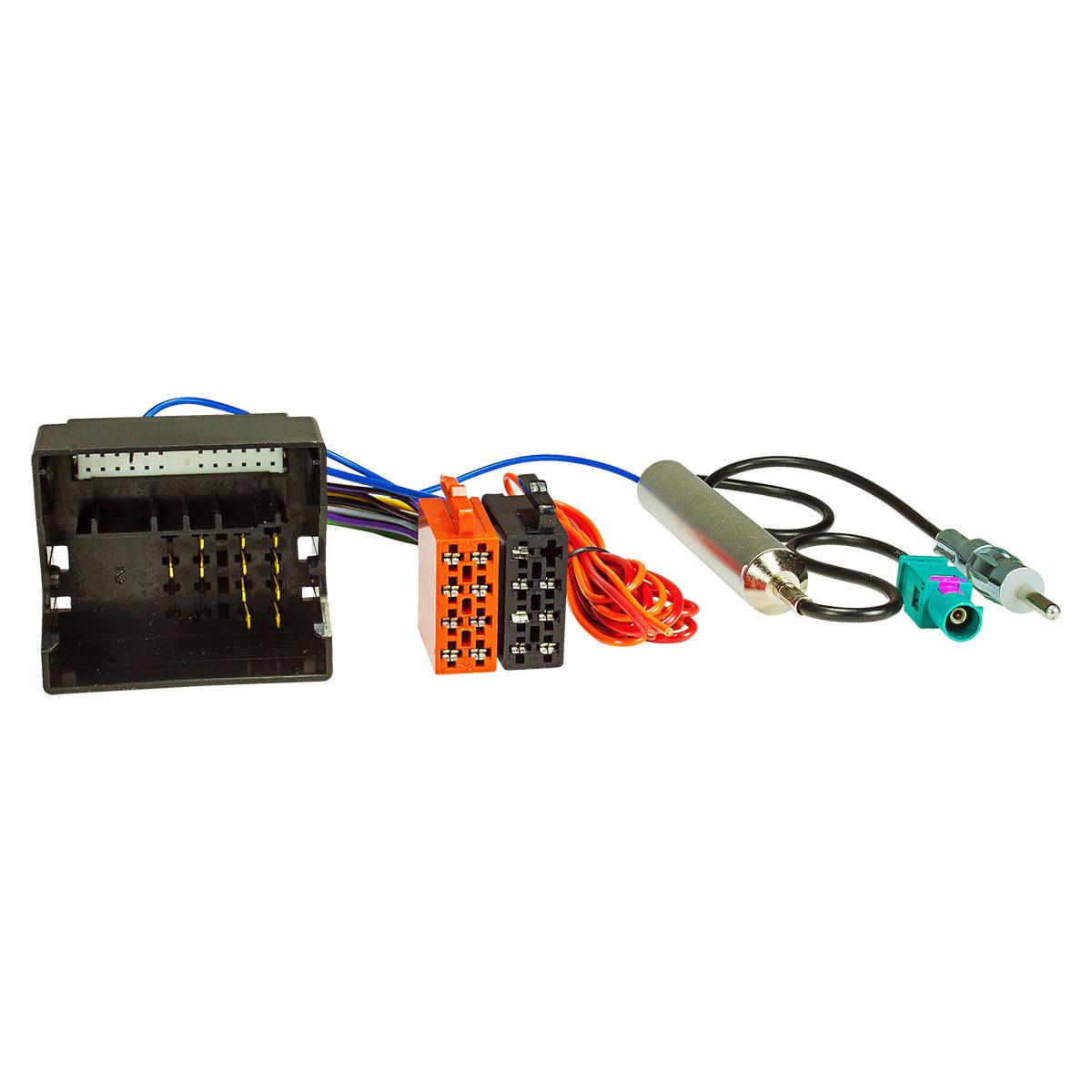 Radio Blende Adapter Kabel für OPEL Agila Corsa Meriva Vectra Zafira Schwarz