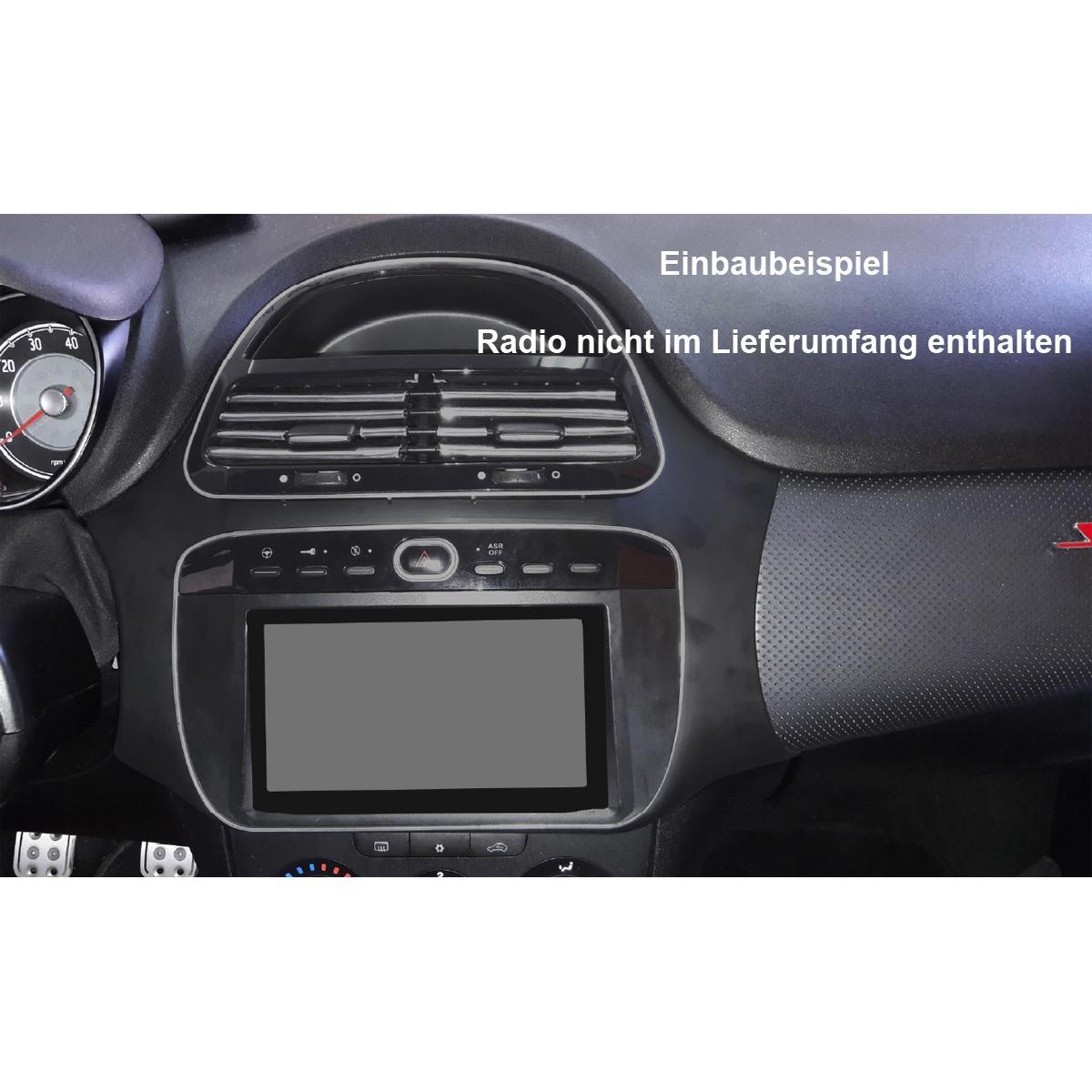Radioblende Doppel DIN Autoradio Fiat Grande Punto 2005-2009 schwarz