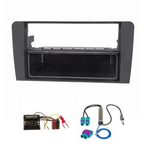 Radioblende Set kompatibel mit Audi A3 8P 8PA schwarz mit...