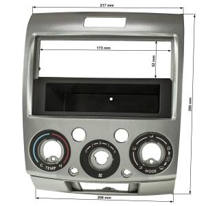 Radioblende kompatibel mit Mazda BT-50 Ford Ranger 2006...