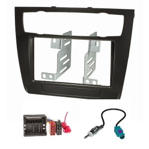 Doppel DIN Radioblende Set kompatibel mit BMW 1er E81 E82...