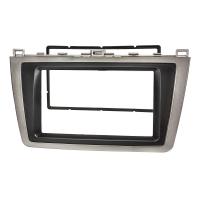 Doppel DIN Radioblende kompatibel mit Mazda 6 GH 2008-2012 silber/schwarz