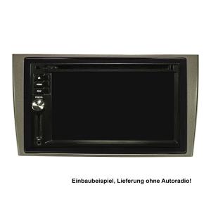 Doppel DIN Radioblende Set kompatibel mit Peugeot 308 RCZ dunkelsilber mit Einbaukit
