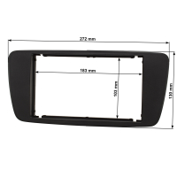 Doppel DIN Radioblende kompatibel mit Seat Ibiza 6J 2008-2013 schwarzmetallic