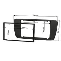 Doppel DIN Radioblende Set kompatibel mit Seat Ibiza 6J Bj.2008-2013 anthrazit schwarz mit Einbaukit