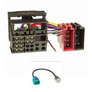 VW RCD 300 310 500 510 Radio Adapter OEM MOST Quadlock Stecker ISO KFZ Kabel