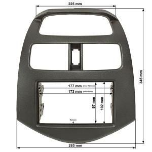 Doppel DIN Radioblende kompatibel mit Chevrolet Spark...