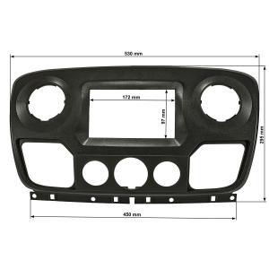 Doppel DIN Radioblende kompatibel mit Renault Master III...