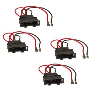 Lautsprecheradapter 4er Set kompatibel mit VW Golf 4 5 6...