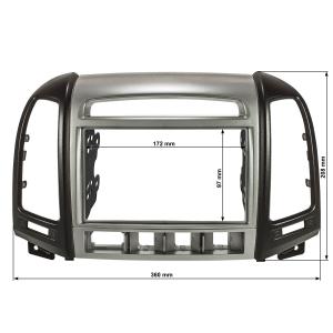 Doppel DIN Radioblende kompatibel mit Hyundai Santa Fe CM...