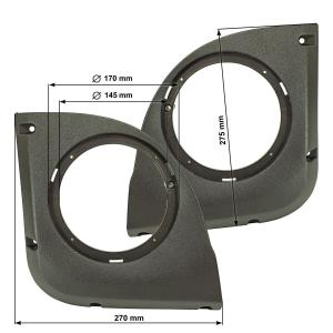 Lautsprecheradapterringe Doorboard kompatibel mit Fiat...