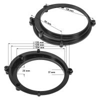 Lautsprecherringe Adapter Halterungen kompatibel mit Audi A4 B5 A4 B5 Avant Fronttür für 130mm DIN Lautsprecher