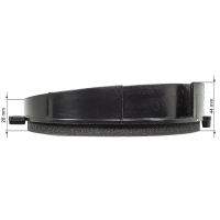 Lautsprecherringe Adapter Halterungen kompatibel mit Mercedes C-Klasse W202 Fronttür für 165mm DIN Lautsprecher