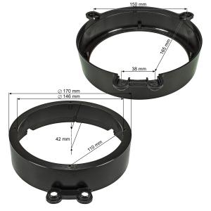 Lautsprecherringe Adapter Halterungen kompatibel mit...