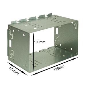 2DIN Doppel ISO DIN Metal Rahmen Einbauschacht Radioblende Einbausatz Einbaurahmen China/Android Geräte