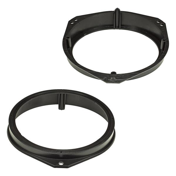 Lautsprecherringe Adapter Halterungen kompatibel mit Opel Corsa B C Tigra Meriva Vivaro Combo Fronttür für 165mm DIN Lautsprecher