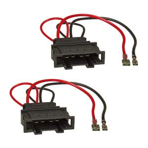 Lautsprecherringe Adapter + Kabel kompatibel mit VW Golf 6 7 Passat Polo Up Beetle Seat Arosa Mii Toledo Skoda Roomster City Go für 165mm DIN Lautsprecher