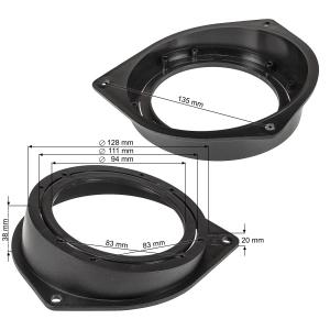 Lautsprecherringe Adapter Halterungen kompatibel mit Opel...