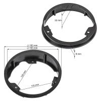 Lautsprecherringe Adapter Halterungen kompatibel mit Ford S-Max ab 2006-2015 Galaxy WA6 2006-2014 Fronttür für 165mm DIN Lautsprecher
