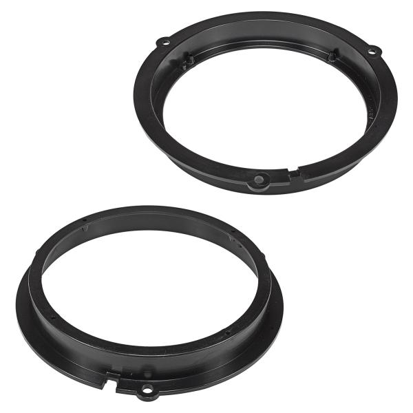 Lautsprecherringe Adapter Halterungen kompatibel mit Ford Fiesta KA Focus Mondeo Kuga Fronttür und Tür hinten für 165mm DIN Lautsprecher