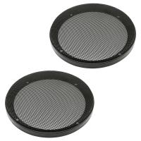Lautsprecher Gitter Grill für 165mm DIN Lautsprecher schwarz 2-teilig Kunststoffring mit Metallgitter Satz
