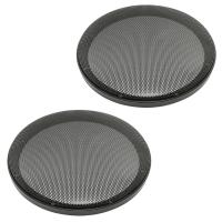 Lautsprecher Gitter Grill für 200mm Lautsprecher schwarz 2-teilig Kunststoffring mit Metallgitter Satz