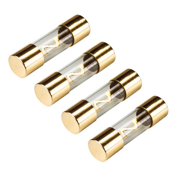 KFZ AGU Sicherung Glas 50A, 10x38mm, vergoldete Kontakte, 4 Stück