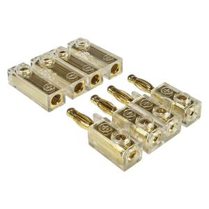 4-fach Kabel-Steckverbinder, Bananenstecker, Soundboard,...