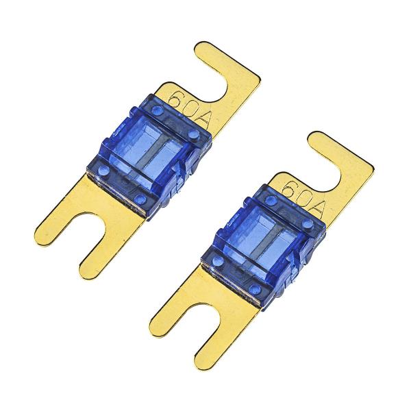 Mini ANL Sicherung 60A 2 Stück mit vergoldeten Kontakten