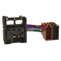 Werks Originalradio Anschlußkabel Adapter kompatibel mit BMW Werksradio (Rundpin alter Anschluß) auf ISO