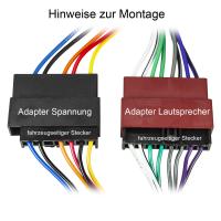 Radio Adapter Kabel kompatibel mit Ford Mazda 121 Jaguar auf 16pol ISO Norm