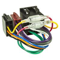 Universal ISO Buchse auf ISO Stecker Adapterkabel Verlängerung Klemme15/30 drehbar Strom + 4 Lautsprecher