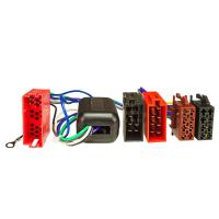 Aktivsystem Radio Adapter kompatibel mit Audi A2 A3 A4 A6 A8 4x100 Watt max. Mini-ISO auf 16pol ISO Norm