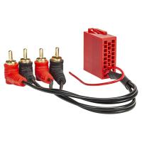 Aktivsystem Radio Adapter kompatibel mit Audi Mini-ISO Stecker 20-polig auf Cinch 4-Kanal mit Remote verg. Cinch-Stecker