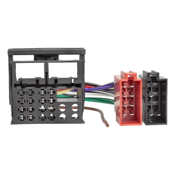 Werks Originalradio Adapterkabel kompatibel mit Original Geräten von Audi VW Skoda Seat Quadlock auf ISO