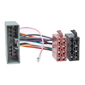 Radioblende Adapter Kabel Set für HONDA Civic ab 2001 silber mit Fach 1-DIN