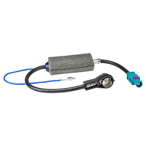 Fakra Antennenadapter Phantomeinspeisung DIN ISO tomzz Audio 2457-033 Radioblende Set kompatibel mit VW Touareg 7L Multivan T5 mit Quadlockadapter ISO