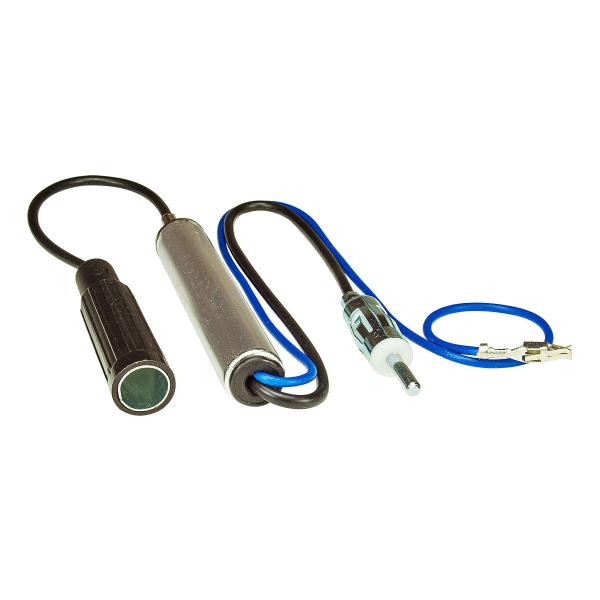 Antennenadapter mit Phantomeinspeisung kompatibel mit VW Sharan Ford Galaxy Seat Alhambra DIN Buchse auf DIN
