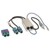 Doppel Fakra Diversity Antennenadapter mit Phantomeinspeisung kompatibel mit Audi Seat Skoda VW Citroen Peugeot Opel auf DIN