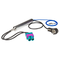 Doppel Fakra Antennenadapter mit Phantomeinspeisung kompatibel mit Audi Seat Skoda VW Citroen Peugeot Opel auf ISO