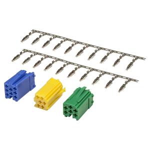 Mini ISO Stecker Set grün gelb blau Gehäuse +...
