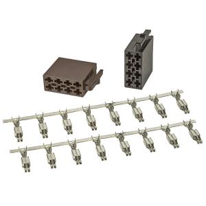 ISO Stecker Gehäuse Montage Set Strom + Lautsprecher...
