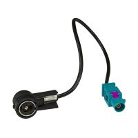 Fakra (M) Antennenadapter Stecker auf ISO (M) Stecker kompatibel mit Audi BMW Citroen Dacia Fiat Opel Peugeot Renault Seat Skoda VW