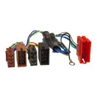 Radioblende Set kompatibel mit Audi A4 B5 8D Facelift A6 C5 B4 schwarz mit Aktivsystemadapter ISO Antennenadapter Phantomeinspeisung DIN ISO