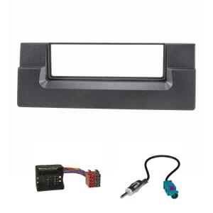 Radioblende Set kompatibel mit BMW 5er E39 X5 E53 schwarz...